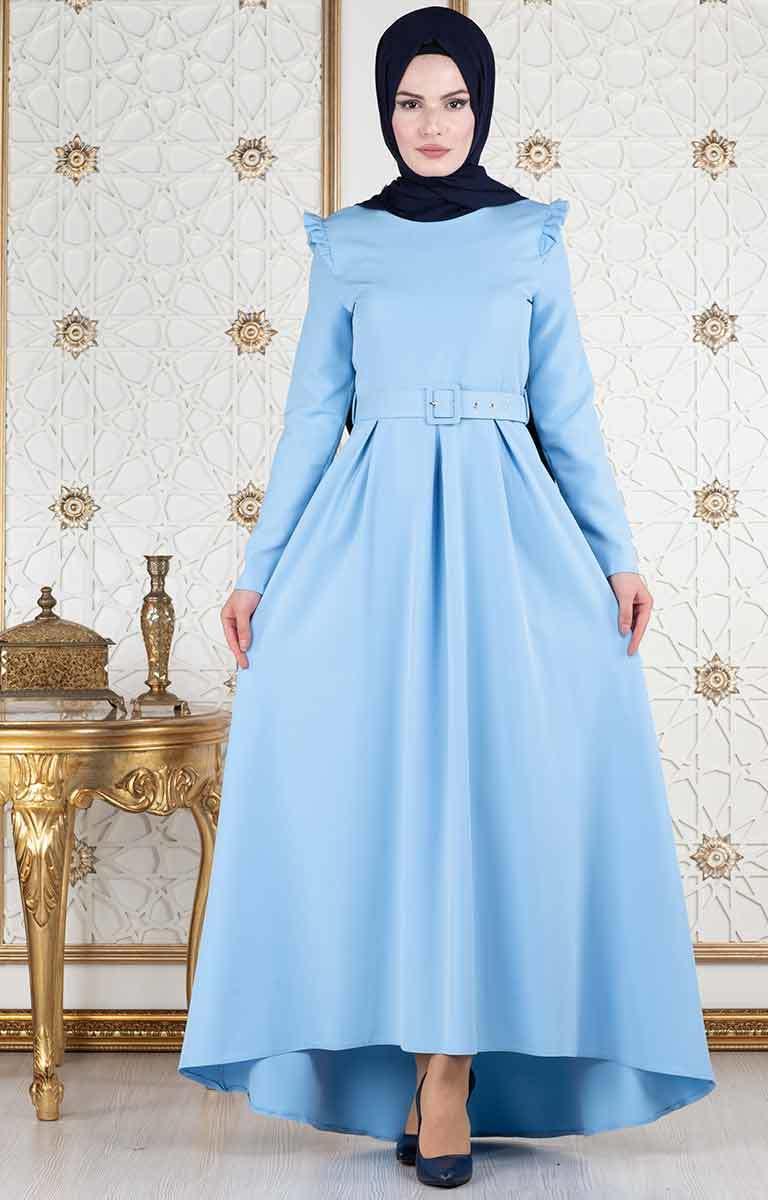 fe9915ef29311 Tesettür Elbise Modelleri En Güzel Desen Ve Aksesuarları İle