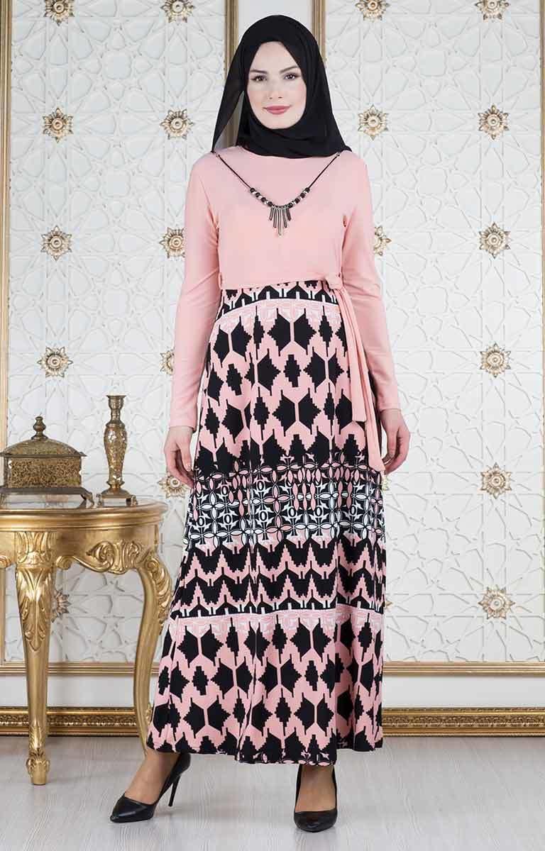 ae411670ffba3 Yaz İçin Tesettür Elbise Modelleri